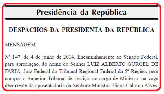 Dilma indica Gurgel