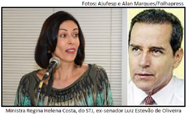 Regina Helena Costa e Luiz Estevão
