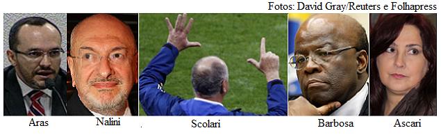 Aras, Nalini, Scolari, Barbosa e Ascari