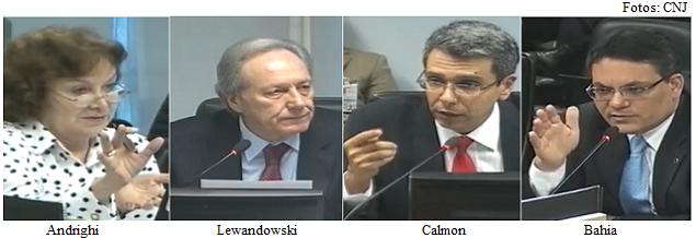 Andrighi, Lewandowski, Calmon e Bahia