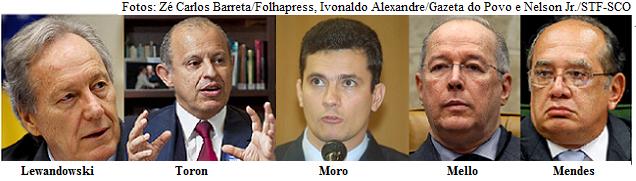 Moro, Toron e ministros do STF