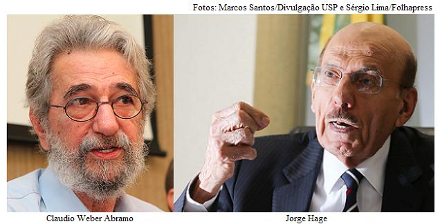 Claudio Abramo e Jorge Hage