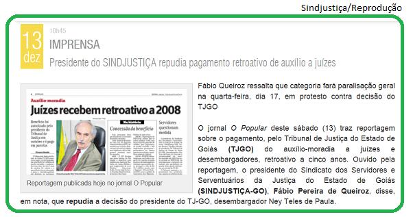 Sindjustiça - Goiás