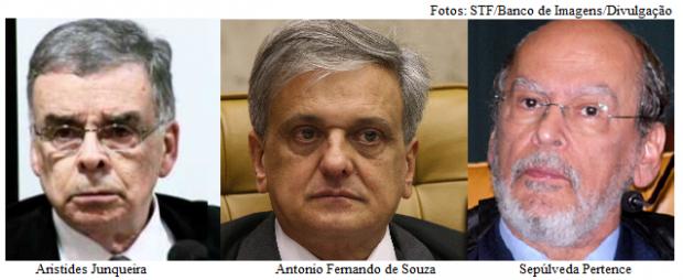 Aristides, Antonio Fernando e Sepúlveda Pertence