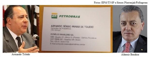 Armando Toledo e Aldemir Bendine
