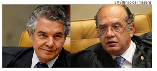 Marco Aurélio e Gilmar Mendes