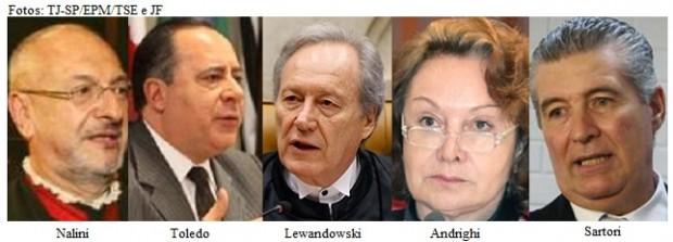 Nalini, Toledo, Lewandowski, Andrighi e Sartori