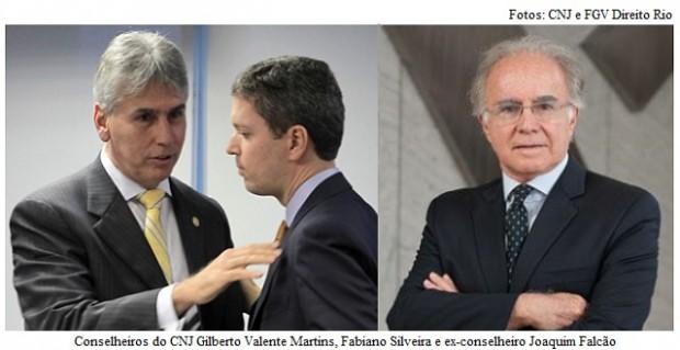 Gilberto Martins, Fabiano Silveira e Joaquim Falcão