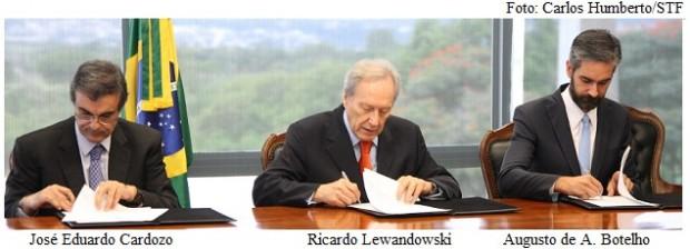 José Eduardo Cardozo, Lewandowski e Arruda Botelho