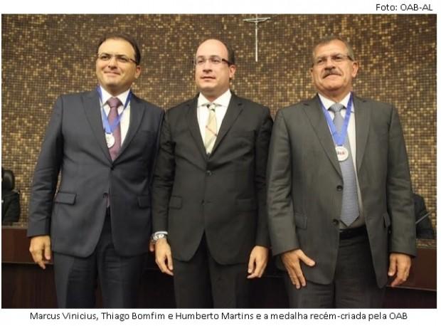 Marcus Vinicius, Thiago Bomfim e Humberto Martins