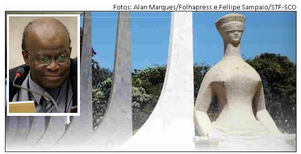 Joaquim Barbosa e fachada do STF