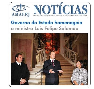 Cabral homenageia Salomão