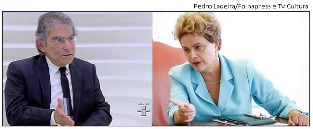 Ayres Britto e Dilma Rousseff