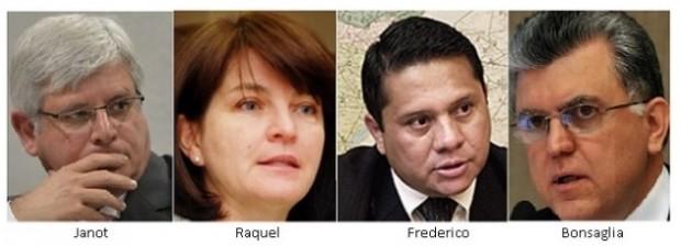 Janot, Raquel, Frederico e Bonsaglia