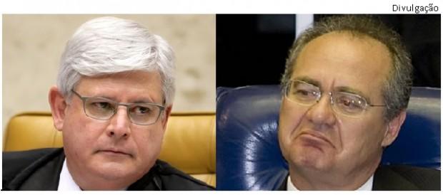 Rodrigo Janot e Renan Calheiros