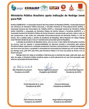 Nota MPU indicação de Janot