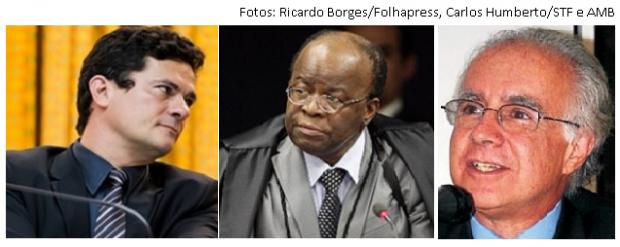 Moro, Joaquim Barbosa e Joaquim Falcão