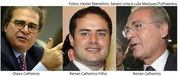 Olavo Calheiros, Renan Calheiros Filho e Renan Calheiros
