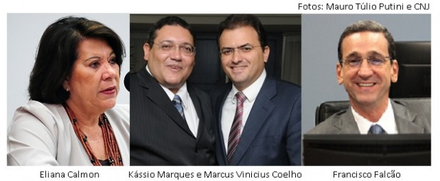 Eliana Calmon, Kássio Nunes e Marcus Vinicius Coelho