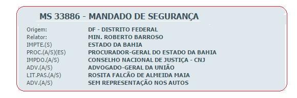 TJ-BAHIA MANDADO DE SEGURANÇA