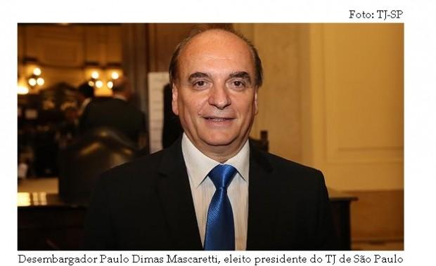 Paulo Dimas presidente eleito do TJSP