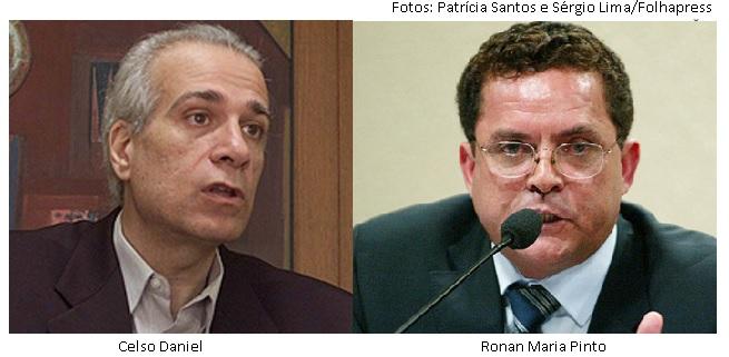 Celso Daniel e Ronan Maria Pinto