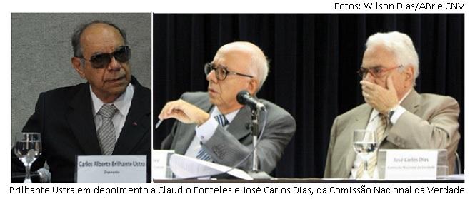 Ustra, Fonteles e José Carlos Dias
