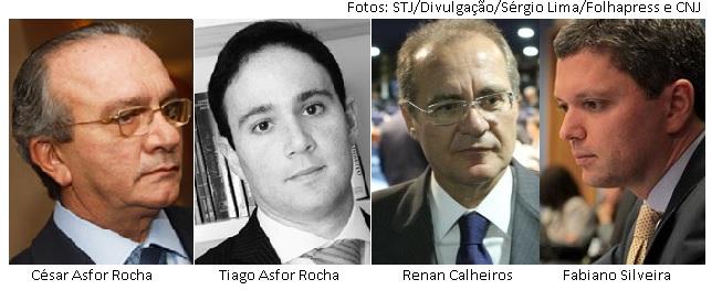 Asfor Rocha, Tiago Asfor Rocha, Renan Calheiros e Fabiano Silveira