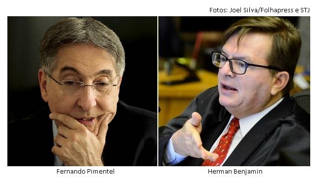 Fernando Pimentel e Herman Benjamin