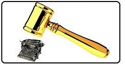 Martelo e máquina de escrever MINI