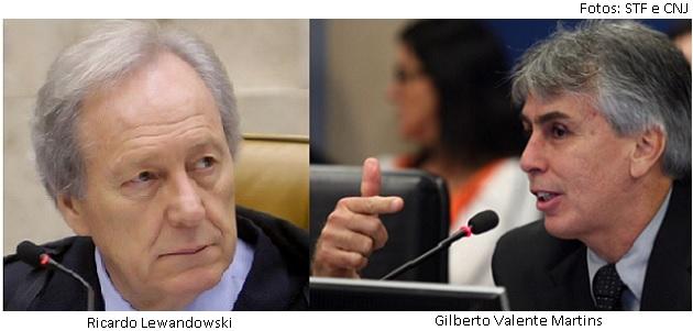 Ricardo Lewandowski e Gilberto Martins