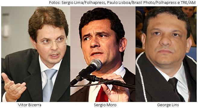 Vitor Bizerra, Sergio Moro e George Lins
