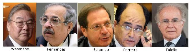 Watanabe, Og Fernandes, Salomão, Ferreira e Joaquim Falcão