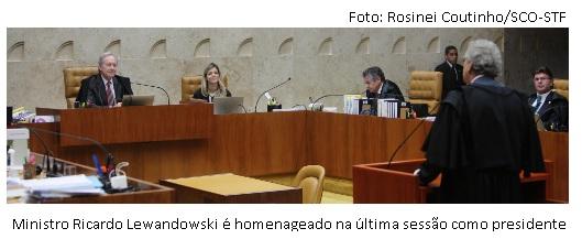 Lewandowski na última sessão