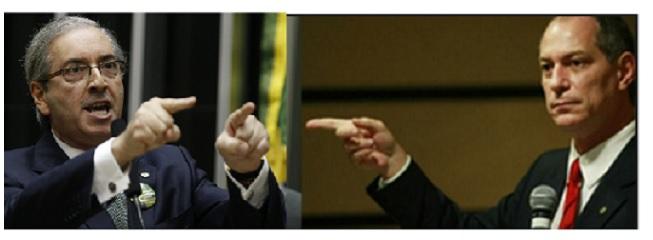Eduardo Cunha e Ciro Gomes