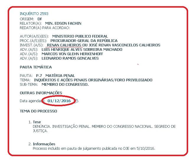 Renan inquérito STF