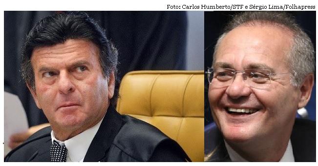 Luiz Fux e Renan Calheiros