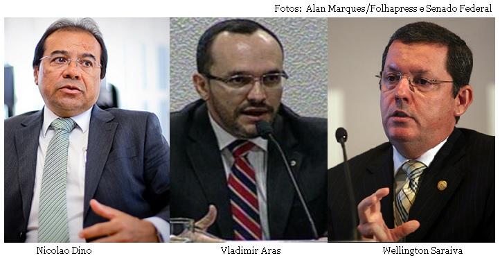 Nicolao Dino, Vladimir Aras e Wellington Saraivar