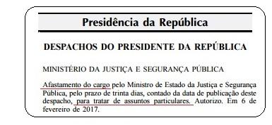 Ato afastamento Alexandre Moraes